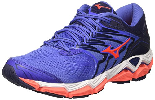 Bajablue Blue Fierycoral WOS Shoes Patriotblue Running 55 2 Wave Women's Horizon Mizuno RqB8w8