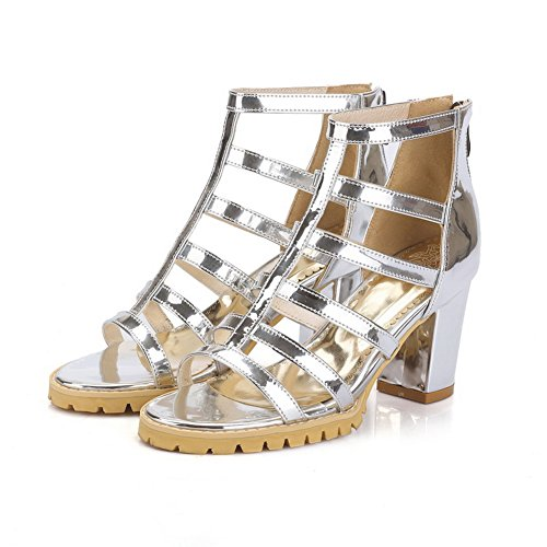 BalaMasa Womens Non-Marking Cold Lining Dress Silver Urethane Sandals ASL05093-4.5 UK QgILPzHe