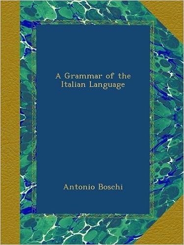 Téléchargez les livres électroniques gratuits epubA Grammar of the Italian Language (French Edition) PDF RTF DJVU B009AEZZFW