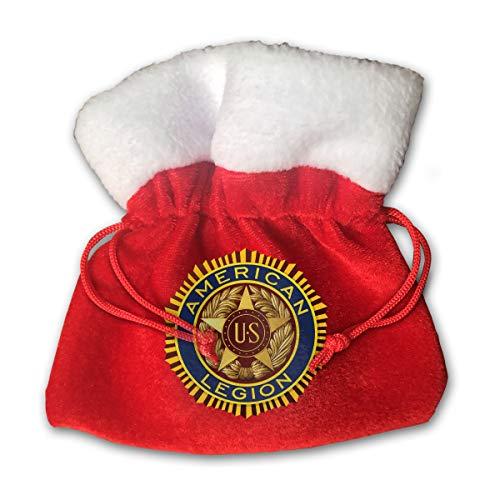 Velvet Legion Paper - CYINO Personalized Santa Sack,US American Legion Portable Christmas Drawstring Gift Bag (Red)