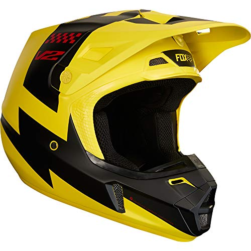 2018 Fox Racing V2 Mastar Helmet-Yellow-M ()