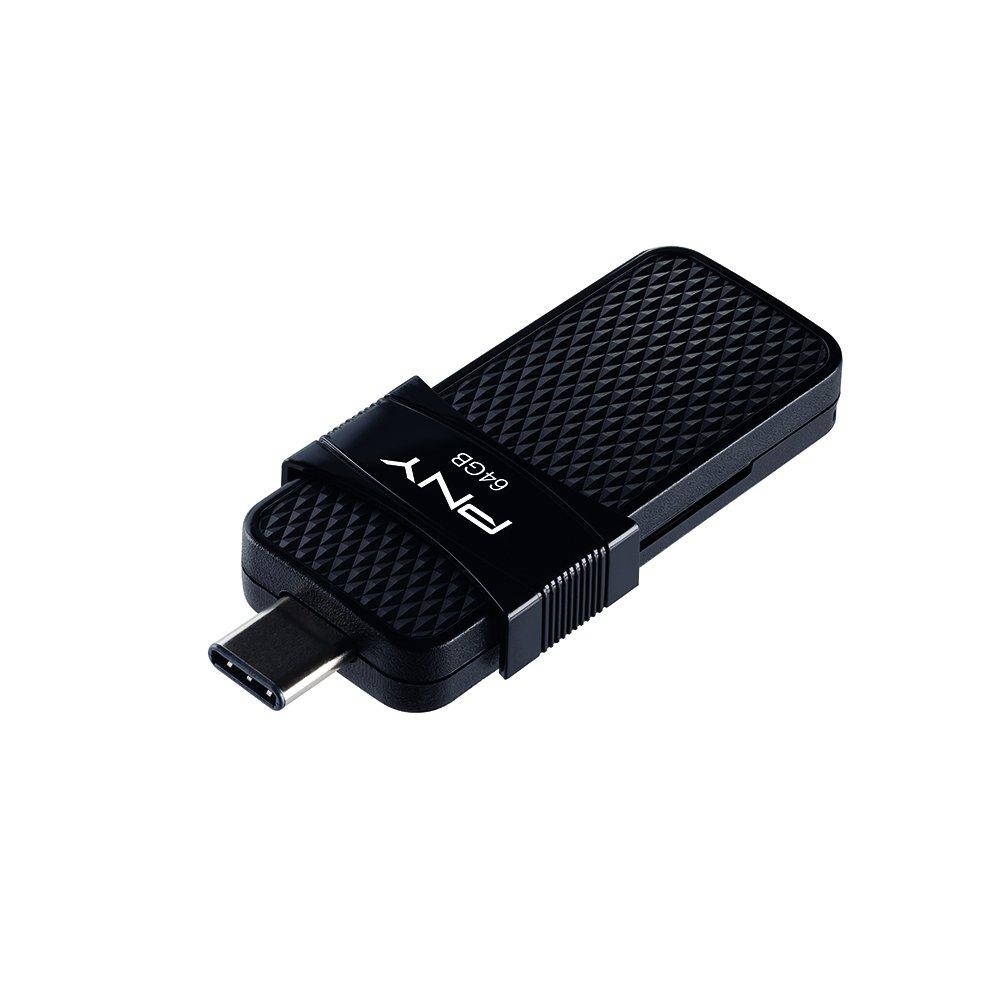PNY Duo Link OTG 64GB Type-C Drive, up to 130MB/S – P-FD64GOTGSLTC-GE