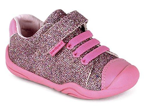 pediped Girls' Grip Jake Sneaker, Pink, 22 E EU Toddler (6-6.5 - Toddler Jake