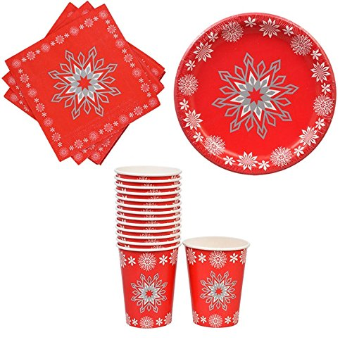 Christmas Paper Plates Napkins and Cups With Snowflake Design  sc 1 st  Importitall & Christmas Paper Plates Napkins and Cups With Snowflake Design ...