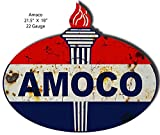 Amoco Reproduction Laser Cut Out 18x21.5