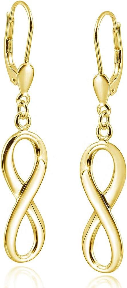 Boucles d/'Oreille Pendantes Amour Amitié en Argent Massif Sterling 925
