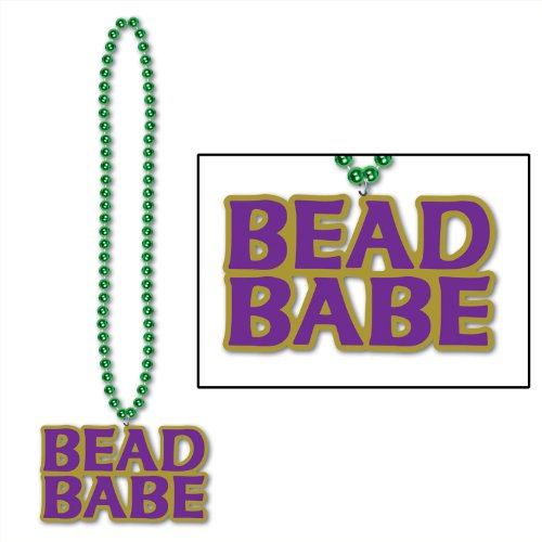 Beads w/Mardi Gras Medallion Party Accessory (1 count) (1/Card) -