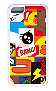 Brian114 iPhone 5C Case - Colorful Illustrations 2 Soft Rubber White iPhone 5C Cover, iPhone 5C Cases, Cute iPhone 5c Case