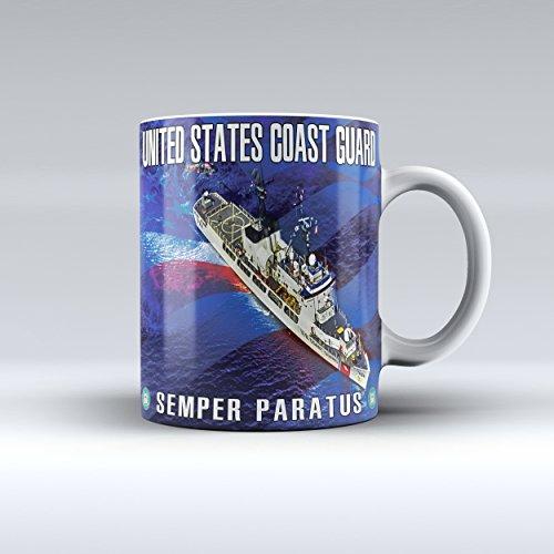 Coast Guard Mug (Coast Guard Mug USCG Mug Ceramic Mug 15OZ)
