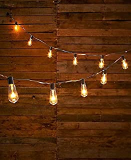 Light Bulbs String: Edison-Style Bulb String of Lights (Clear),Lighting