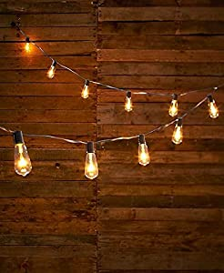 edison style bulb string of lights clear patio lawn garden. Black Bedroom Furniture Sets. Home Design Ideas