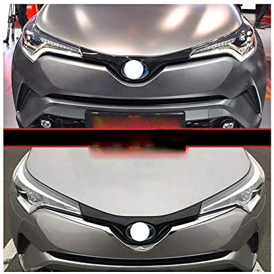 1PCS Chromed Front Grill Grille Moulding Trim trims Decorate Trim For Toyota C-HR 2017 2018 2019 2020