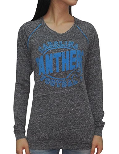 NFL Womens Team Logo Athletic Long Sleeve T-Shirt - CAROLINA PANTHERS S Grey
