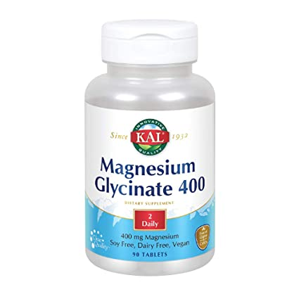 Kal Magnesium Glycinate - 400 mg - 90 Tablets: Amazon.es: Salud y cuidado personal
