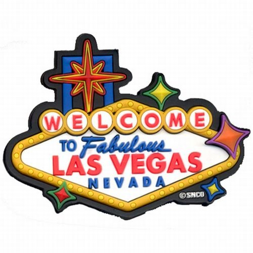 ((22 5/18) LVM Las Vegas Magnet Welcome Sign Laser Cut 30100 With Copyrighted Las Vegas Magnet)