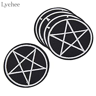 Momoso_store Pentagram Gothic Patches DIY Handmade Garment Applique Sew On Clothes Embroidery Crafts for Bags Hats, 05pcs: Toys & Games