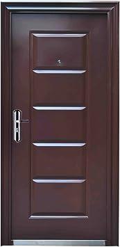 Haustur Tur Wohnungstur Eingangstur Sicherheitstur 96 X 205 Cm Braun Din Links Amazon De Baumarkt