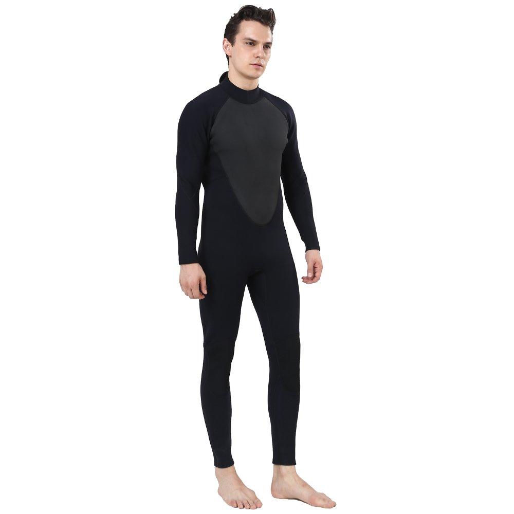 Realon Wetsuit Men Full 2/3mm Surfing Suit Diving Snorkeling Swimming Jumpsuit (2/3mm Black, 3XL) by Realon (Image #6)