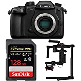 Beach Camera Panasonic LUMIX GH5 20.3MP 4K Mirrorless Digital Camera with WiFi and DJI Ronin M 3-Axis Brushless Gimbal Stabilizer and Sandisk Pro 128GB SDXC Memory Card Bundle