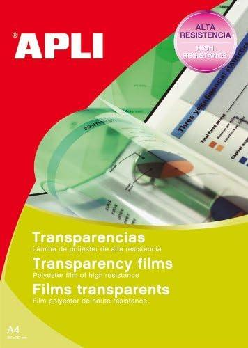 Apli 732109 A4 transparente Folie Pack 50