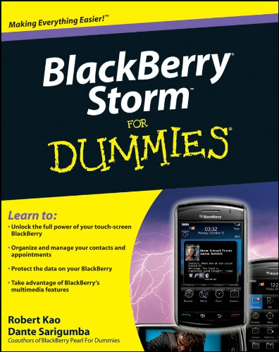 - BlackBerry Storm For Dummies