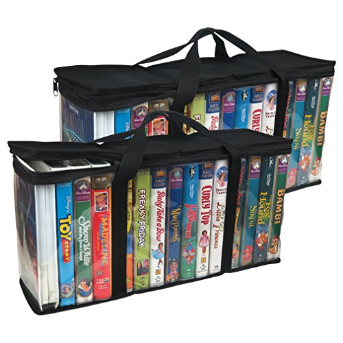 Media Vhs - Evelots 6746 Large Vhs Storage Bags, 2 Piece