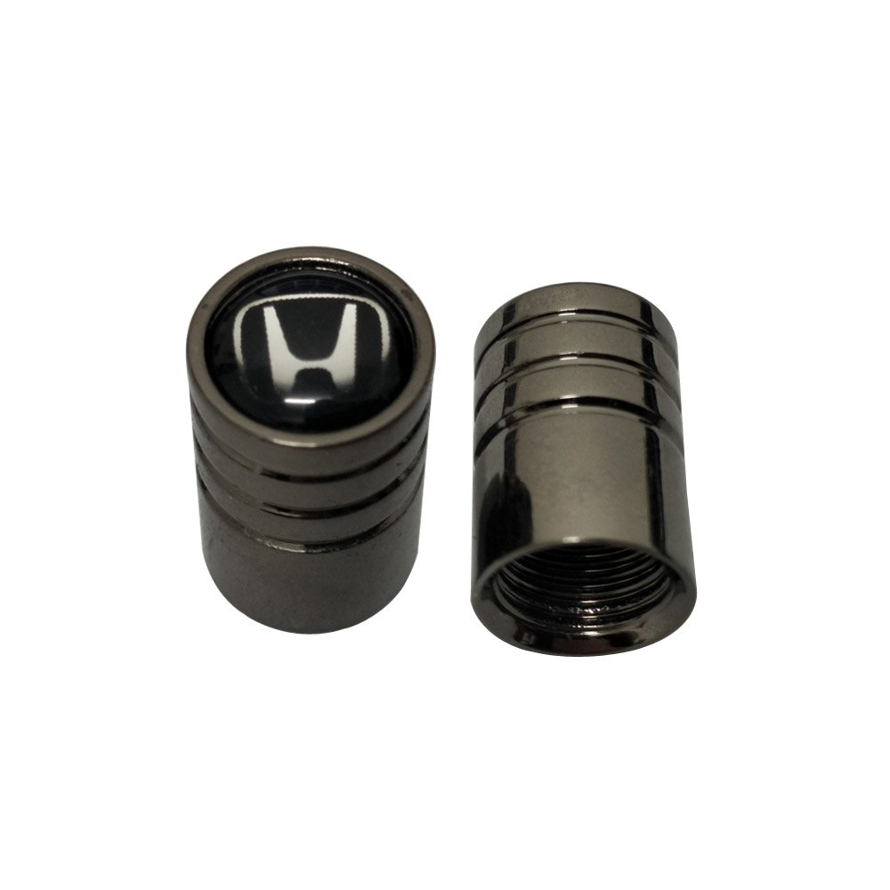AEMULUS Black Chrome Auto Car Wheel Tire Air Valve Caps Stem Tire Decoration For Car Auto Honda