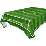 MaMacool Soccer Field Water Resistant Tablecloth Wrinkle Free and Stain Resistant Fabric Tablecloths for Kitchen Dinning Tabletop Decor 60x108(in)