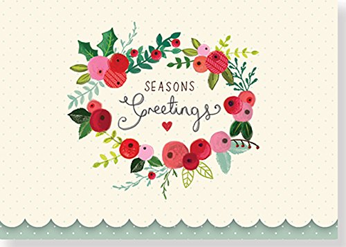 Holly & Berries Small Boxed Holiday Cards (Christmas Cards, Holiday Cards, Greeting Cards)