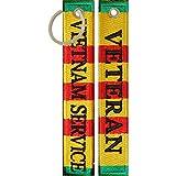 Vietnam Veteran Service Ribbon Keychain Luggage Tag Key Ring Military Gifts