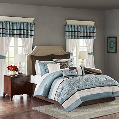 Chocolate Blue Comforters - 5