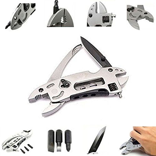 Multi-tool Pliers,Hmane Pocket Wrench Multi-function Outdoor Survival Knife with Spanner (Plastic Mm 43 Snap)