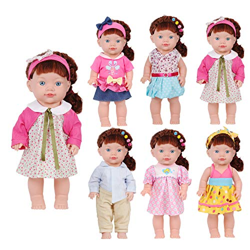 - Huang Cheng Toys Set of 6 14-15 Inch Alive Lovely Doll 18-inch American Doll Clothes Outfits Costume Handmade