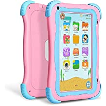 Yuntab Q91 7 inch Android 5.1 Kids Edition Tablet PC with Premium Parent Control Kids Software Pre-Installed Allwinner A33 Quad-core, 1+8GB, Duanl Camera, WiFi , Bluetooch tablet for kids (Pink)