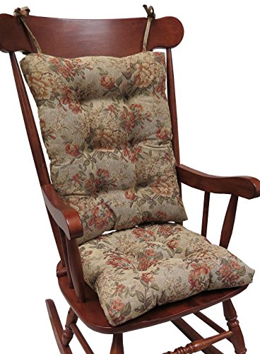 Chair Pressed Back (Klear Vu The Gripper Non-Slip Somerset Tapestry Jumbo Rocking Chair Cushions)