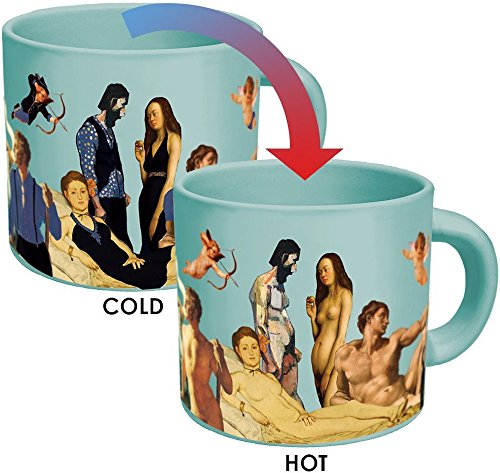 Great Nudes Heat Changing Coffee Mug - Add Hot Liquid and Watch the Figures Change From Prudes to Nudes - Comes in a Fun Gift Box