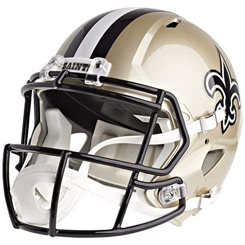 New Orleans Saints Replica Helmet - Riddell New Orleans Saints Officially Licensed Speed Full Size Replica Football Helmet