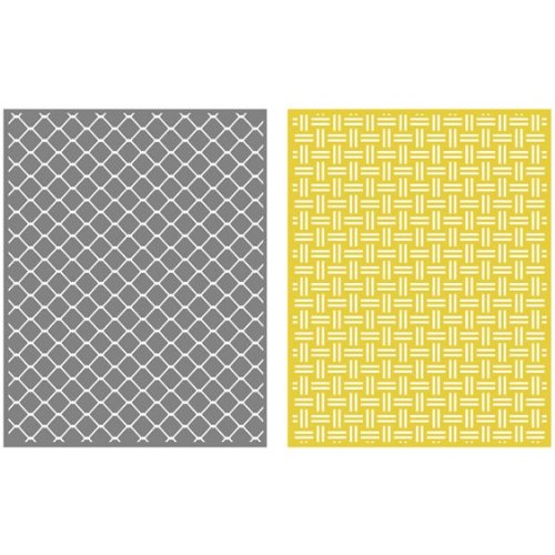 QUICKUTZ Lifestyle Crafts Chain 2-Pack Embossing Folder for Scrapbooking