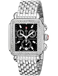 Womens MWW06P000171 Deco Stainless Steel Watch with Diamond Accents
