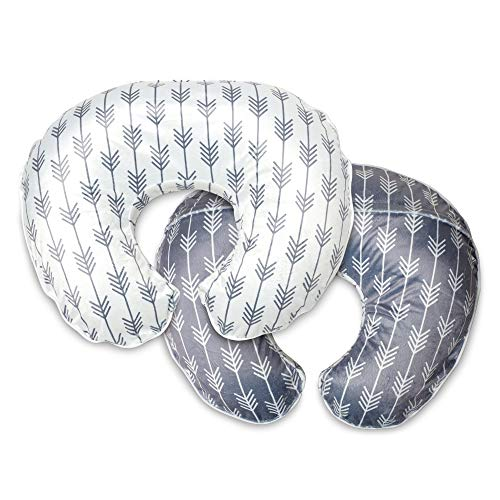 Boppy Boutique Pillow Cover, Gray White Arrows, Minky Fabric in a fashionable two-sided design, Fits ALL Boppy Nursing Pillows and Positioners (Boppy Pillow Slipcovers)