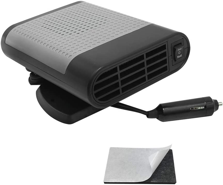 12V 150W Universal Portable Auto Car Heater Fan Defroster with Air Purification, Fast Heating in 30 Seconds, Windshield Defogger Defroster Demister Vehicle Ceramic Heater