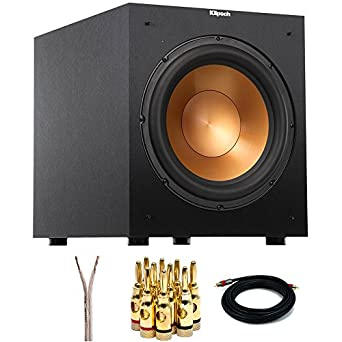 Klipsch R-12SW Powerful 12-inch 400 Watt Subwoofer (1016571) with Select
