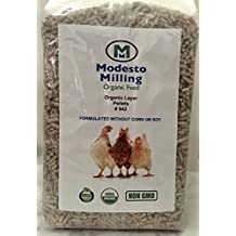 Modesto Milling Organic, Non-GMO Layer Pellets for Chickens, Formulated without Corn or Soy, 10lbs