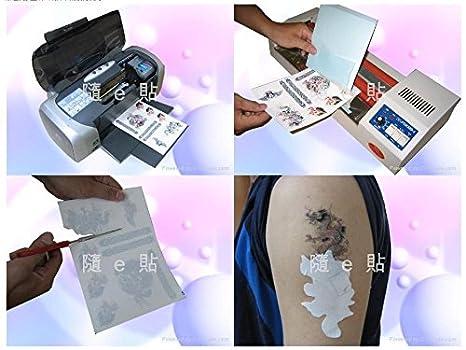 derblue 10 hojas tatuajes temporales transferencia Papel A4 ...