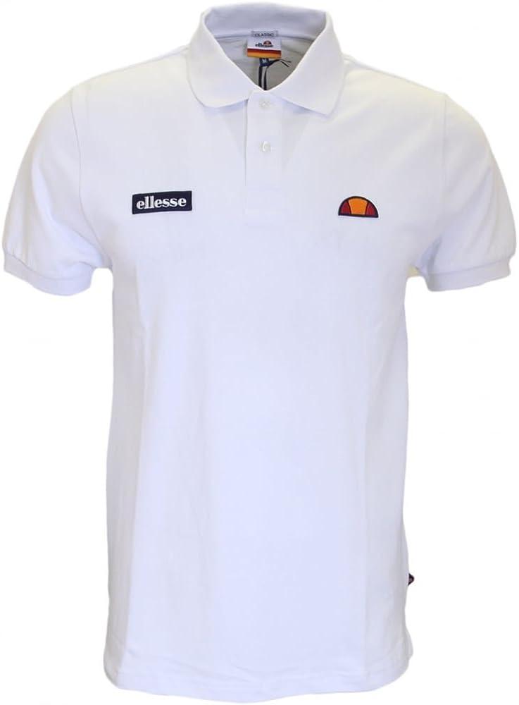 Ellesse - Polo - para Hombre Blanco Blanco Small: Amazon.es: Ropa ...