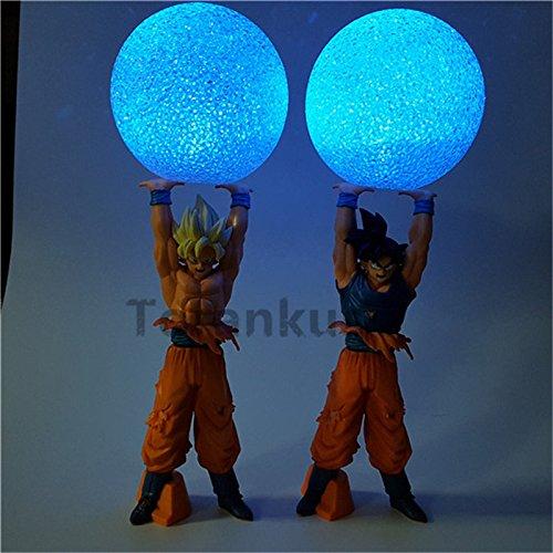 Anime Dragon Ball Z Action Figure Son Goku Super Saiyan Spirit Bomb Led Light Dragon Ball Z Model Toy DBZ Son Goku (Yellow Hair)]()