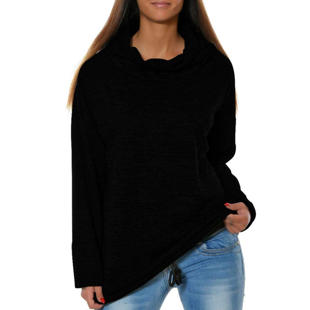BeautyVan—Winter Sweater for Women Womens Solid Long Sleeve O-Neck Causal Hooded Blouses Tops Shirts Top Pullover Tops