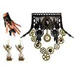 Zivyes Steampunk Accessories for Women Victorian Costume Gothic Lolita Choker Necklace Bracelet Earrings 6