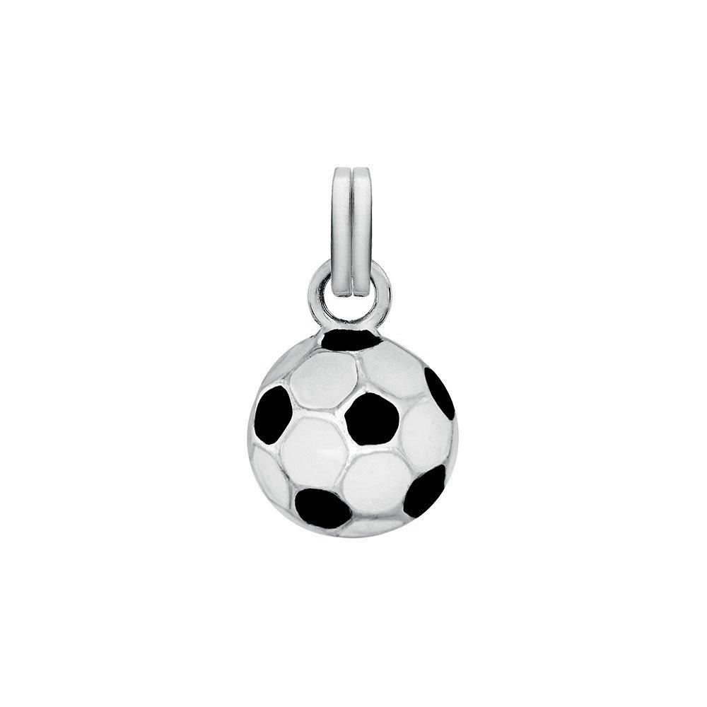 Jouailla Bijoux - Colgante con diseño de balón de fútbol en blanco ...