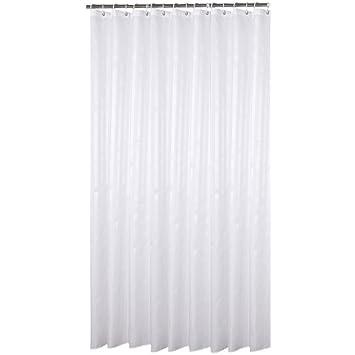 Salle de Bain Imperméable Rideau de Douche tissu anti moisissure 180x240  blanc argent 3D
